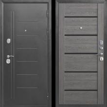 Входная дверь 10 см ТРОЯ Серебро Царга (темный кипарис, дымчатый дуб, лиственница) - 18100 руб.